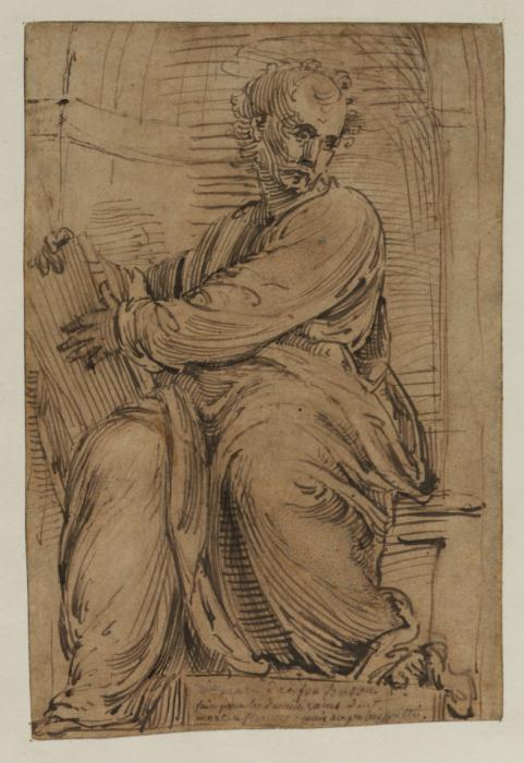 Fra Bartolommeo, Study for 'Saint Mark'